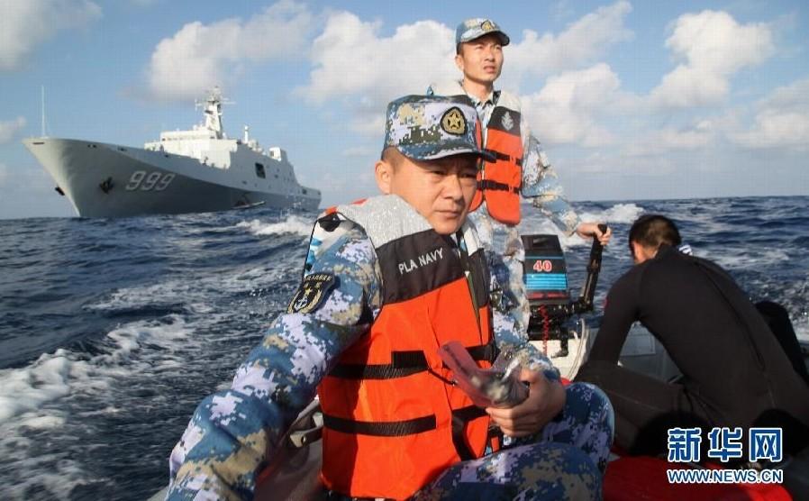 中国舰船继续扩大搜索范围